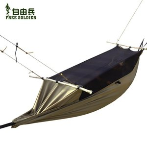 Wholesale outdoor camping outdoor survivor mult-ifunction portable mosquitoes hammock wear-resisting tent 160-180cm height Free soldier wolf brown