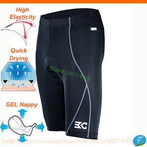 Wholesale D Gel Breathable wicking Men s Cycling Shorts Riding Bicycle Bike Underwear Black Fitness Sports hip pad Underpant M XL