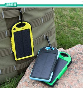 Wholesale Dual USB Universal mAh Solar Charger Waterproof Solar Panel Battery Chargers for Smart Phone PAD Tablets Camera Mobile Power Bank