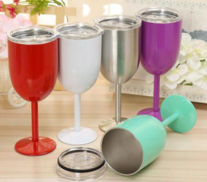 Wholesale Factory Price Stainless Steel Wine Glass colors oz Wine Glasses Vacuum Double layer thermos cup Drinkware Tumbler Red Wine Mugs