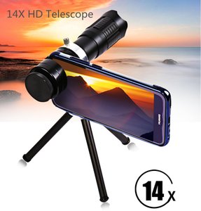 Wholesale 2017 New High Quality HD x Zoom Optical Telescope Telephoto Lens Kit Phone Camera Lenses With U Type Patented Clip Tripod