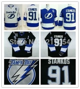 Wholesale 2016 New Youth Jerseys KIDS Tampa Bay Lightning Steven Stamkos Black White Blue new stadium patch C