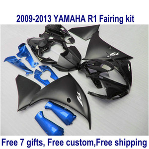 Wholesale 7 free gifts fairing kit for YAMAHA R1 matte black blue fairings set YZF R1 HA63