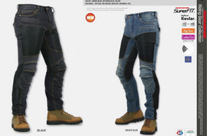 Wholesale JAPAN KOMINE PK719 Locomotive jeans summer half mesh Leisure Motorcycle Jeans With knee protector Rider pants CE Gear Size S M L XL XXL XXXL