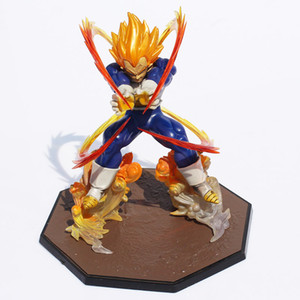 Wholesale Anime Dragon Ball Z Super Saiya Vegeta Battle State Final Flash PVC Action Figure Collectible Model Toy CM
