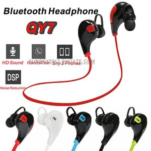 Wholesale Bluetooth Headphones QY7 Wireless in Ear Headsets Sports Stereo Earphone Anti Sweat Earbuds Handsfree for iPhone LG Samsung HTC Xiaomi