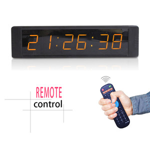 [Ganxin] Mini 1inch 6 Digits 7 Segment Led Display Clock Support Countdown up Digital in Amber White Tube for Indoor Alarm Wall Clock