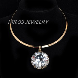 Wholesale Top Fashion Women Neck Fit Torques mm Glass Crystal Necklaces Pendants Statement Chokers Jewelry