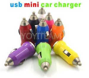 Wholesale usb mini car charger mA colorfully style for any smart phone classic model