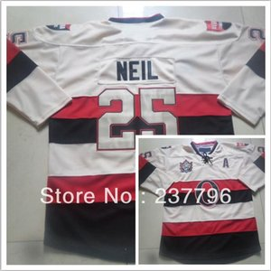 Wholesale best classic hockey jerseys resale online - 2016 New Heritage Classic Jerseys Senators Chris Neil Jersey Ice Hockey Beige Cream Winter Best Quality All Stitched