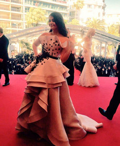 Strapless Prom Dresses Red Carpet Plunging Sleeveless Open Back Elie Saab 2018 High Low Celebrity Dress Golden Awards on Sale