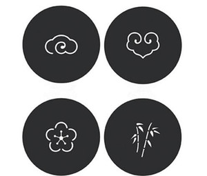 Wholesale Felt Coaster Cup mats Cartoon Pad fabric Cup Mug Mat Coffee Tea Holder Home Decor