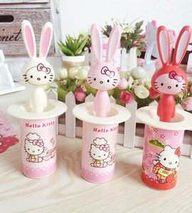 Wholesale Beautiful Hello Kitty toothpick holder dental floss automatic toothpick pocket fashion small portable Romantic creative toothpick box