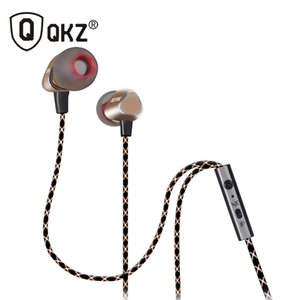 Wholesale QKZ X36M Enthusiast Bass Ear Headphones Copper Forging MM Shocking Antinoise Earphone With Microphone Sound Quality Gold plated