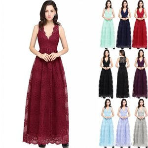 Wholesale beautiful pictures for sale - Group buy New Special Occasion Dress Prom Dresses Beautiful Lace A Line Evening Gowns Real Pictures V Neck Sheer Backless Long Robe soriee