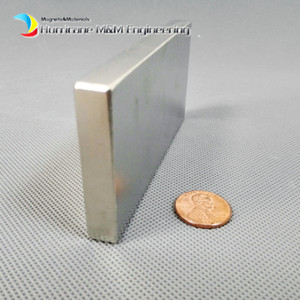 Wholesale 1 Pack Grade N52 NdFeB Block x50x10mm about quot Rectangle Bar Strong NdFeB Bar Neodymium Permanent Magnets Industry Magnets