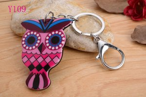 Wholesale 2016 Various Cute OWL head Silicon Key Caps Covers Keys Keychain Case Shell Novelty Item Key Accessories Car Keychain Ring