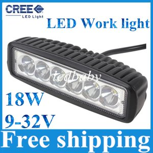 Wholesale Free Shipping 1550LM Mini 6 Inch 18W 6x3W CREE LED Bar work Light as Worklight   Flood Light   Spot Light for Boating   Hunting   Fishing