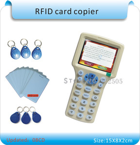 Updated version English version 10 frequency RFID Copier ID IC Reader Writer  copy M1 13.56MHZ Sector0 encrypted +30pcs 3kinds tags