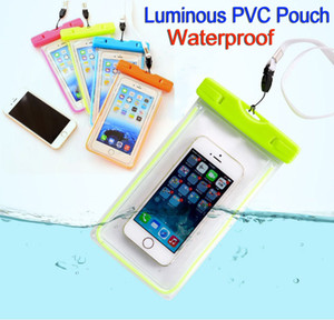 Wholesale Universal Clear Waterproof Pouch Case Luminous Water Proof Bag Underwater Cover suitable for all mobile phone inches Iphone Samsung