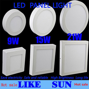 Hot sale surprise!Dimmable 9W 15W 21W Round   Square Led Panel Light Surface Mounted Led Downlight lighting Led ceiling spotlight + Drivers