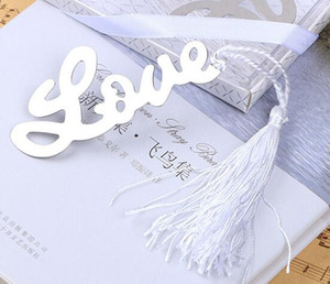 Wholesale LOVE Bookmark for Books Metal Bookmarks with Tassels Wedding Souvenirs Book Marker