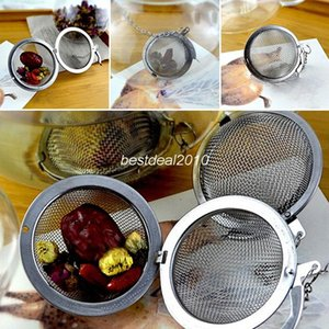 200pcs Silver 4.5cm Stainless Steel Tea Strainer Filter Infuser Mesh Spoon Locking Spice Ball