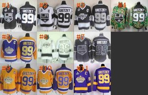 Wholesale CCM Los Angeles Kings Wayne Gretzky Black Vintage Hockey Jersey With Stanley Cup Patch C patch