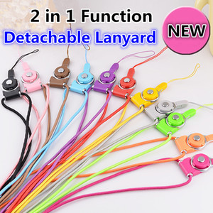 Wholesale Detachable Lanyard Sling Finger Ring for Cell Phone Neck Fashion Universal Hanging Rope for Cell Phone iphone s Case ID Card Keychain