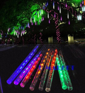 IP65 waterproof 30CM 8pcs set Meteor Shower Rain Tubes LED Light For Halloween Chrismas Party Wedding Tree Lighting Decoration Free Shipping
