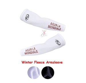 2021 Ag2r White Winter thermal fleece cycling Armsleeve Ciclismo Arm warmers MTB sleeves M3