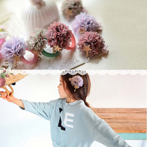 Wholesale Fashion Hair Tie Childrens Accessories Girl Hair Clips Spring Flower Barrettes Baby Hair Accessories Child Hairbands Lovekiss C22029
