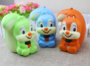 Wholesale Kwaill Hot Sale Squishy Slow Rising cartoon Squishy squirrel simulation squirrel Slow Rising children toys DHL