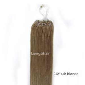 Wholesale Brazilian Hair Products A quot quot s Ash Blonde Loop Micro Ring Hair Extensions Real Straight Brazilian Virgin Remy Human Hair