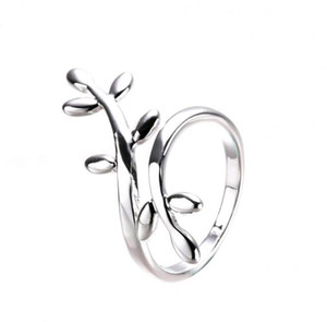 Wholesale korean jewelry free shipping for sale - Group buy New Personality Exquisite Leaf Leaves Surround Silver Korean Design Fashion Rings Jewelry Alloy Cheap