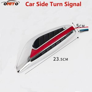Wholesale Best quality 2pcs car Side Lamps car models turn signal safty lamps AUTO side turn signal light indicator Blade Shape Fender LED safety lamp