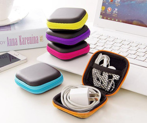 Wholesale Hot Sales Earphone Headphone Cable Charger Adapter Coin Hard Zipper Carrying Pouch Protective Storage Case Bag size