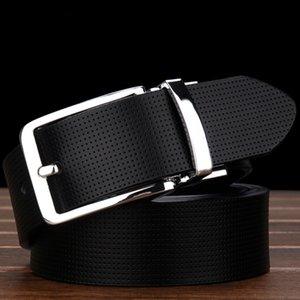 Wholesale 2017 brand belt high quality belts for men fashion designer belt luxury cow genuine leather belt Gold silver black buckle waistband