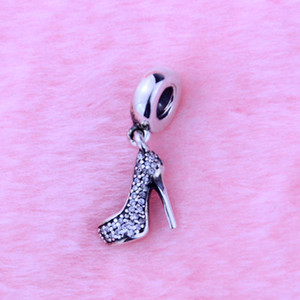 Wholesale pandora style charms beads sterling silver resale online - Authentic Sterling Silver Beads Stiletto Silver Dangle With Cubic Zirconia Fits Pandora Style Bracelets New Charms