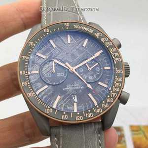 Wholesale 2016 fashion Brand men watches Dial GREY SIDE OF THE MOON METEORITE Quartz Chronograph Mens Watch