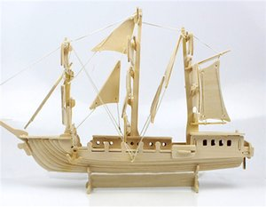 3D Puzzle Clever Paper Caravel 3D Puzzle Cardboard Ship Construction Set Umbum Navigation Class Wooden Simulation Model on Sale