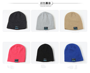 Bluetooth Music Knitted Hat Soft Warm Wireless Speaker Receiver Outdoor Sports Smart Cap Headset Headphone For iphone 6s Samsung M005
