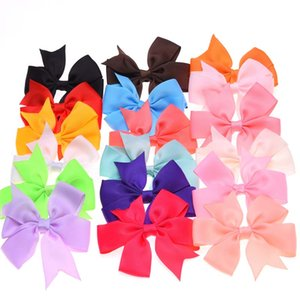 Wholesale 200pcs baby Ribbon bowknots butterfly knot bows NO hariclip girls hair bows for children hair elastic headband