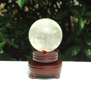 Wholesale natural crystal ball sphere stands resale online - g Natural Clear Crystal ball Gemstone Sphere Healing Reiki Crystal balls Home Decorations stand