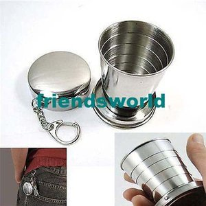 Wholesale Hot Selling Outdoor Hydration Gear Best Price Stainless Steel Cup Travel Camping Folding Collapsible Cup Traveling Cup