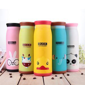 Vacuum insulated Water Bottles for kids stainless steel Cute Cartoon Animal Children Water bottles 17oz 12oz 9oz