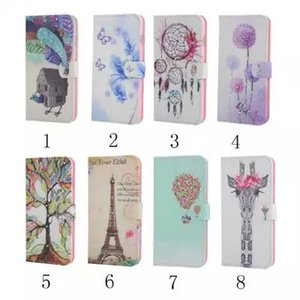 Wholesale For Iphone G plus Diamond Bling Wallet Leather case card slots stand Tree Tower Giraffe Flower House