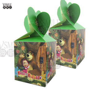 Wholesale 6pcs Masha amp Bear cartoon lovely festival favor wedding birthday party decoration paper candy box Gift Box Cupcake Box suppliers