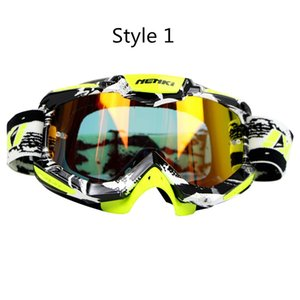 Wholesale Motocross Goggles Motorcycle Racing Eyewear Skiing Snowboard Glasses Colorful Lens Unisex DH MTB Glasses Single Lens