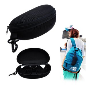 eyeglasses box sunGlasses case 3D Glasses bag New Arrival Black Glasses Eyeglasses Sunglass Zipper Hard Case keyring